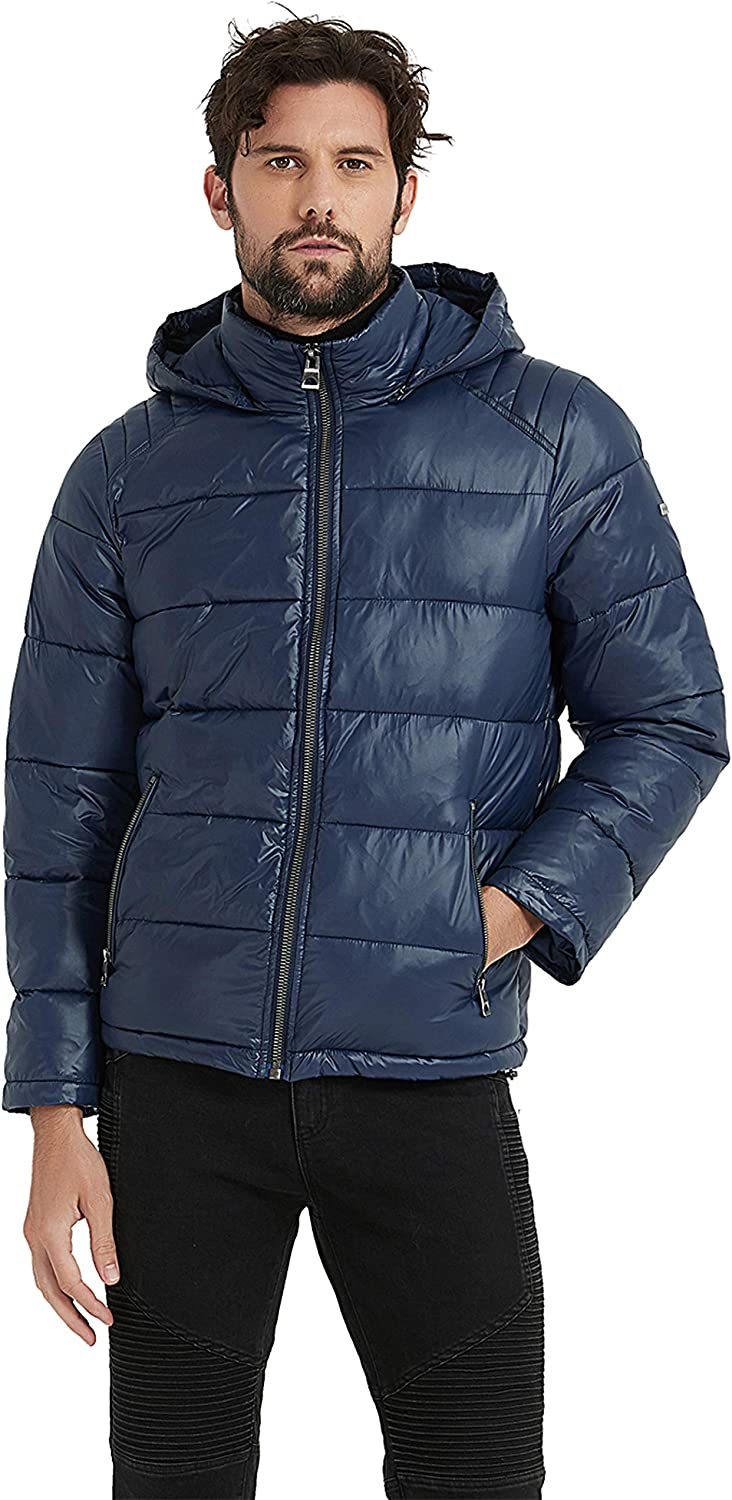 Amazon.com: BINACL Men's Winter Jacket,Thicken Quilted Hooded Padded Down  Alternative Puffer Coat(5 Color,XS-XXL): Clothing