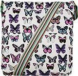 92c24f8539 Miss LuLuPolka Dot Owl leaves Butterfly Ladies Cross Body Rainbow Strap  Canvas Messenger School Shoulder Handbags