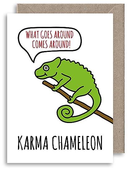 Funny Karma camaleón - Tarjeta de cumpleaños tarjeta ...