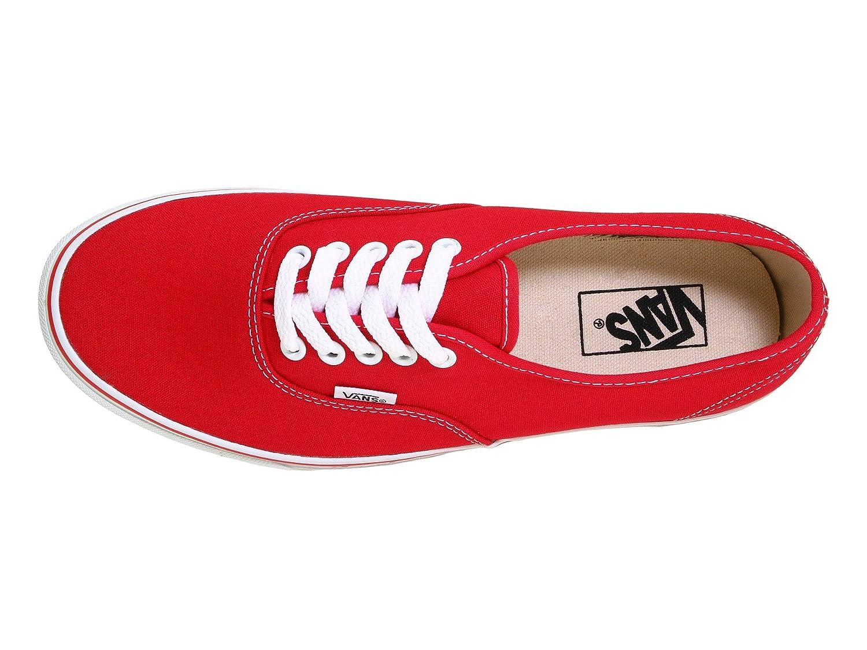 VANS Unisex Authentic Black Canvas VN000EE3BLK Skate Shoe B01LXMTSE8 13 M US Women / 11.5 M US Men|Red
