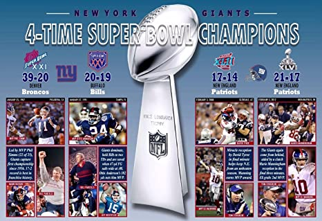 Image Unavailable. Image not available for. Color  PosterWearhouse2017 NEW  YORK GIANTS ... 633a0b48f