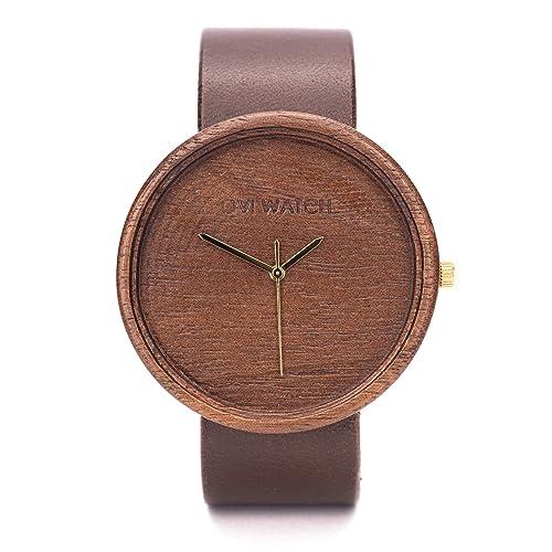 Reloj de Madera, Caja de Madera de Natural, Reloj Ligero y Elegante, Madera de Nogal, Ovi Watch, sostenible Relojes Mujer & Hombre: Amazon.es: Handmade