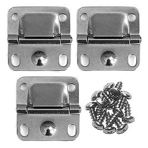 Pack of 3 Coleman Cooler Stainless Steel Hinges & Screws