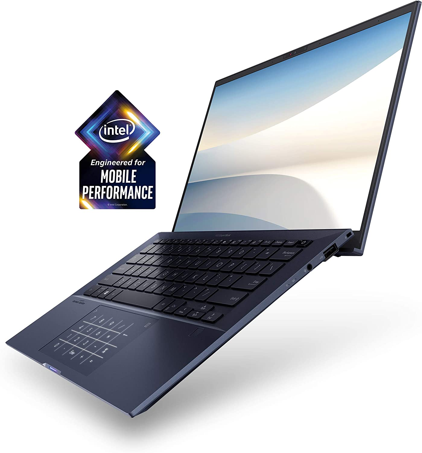"ASUS ExpertBook B9450 Thin and Light Business-Laptop, 14"" FHD, Intel Core i7-10510U-Processor, 512GB PCIe SSD, 16GB-RAM, Windows 10 Pro, Up to 24 Hrs-Battery Life,-Sleeve, B9450FA-XS74"
