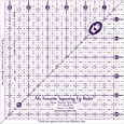Marti Michell My Favorite Squaring Up Ruler, 6-1/2 by 6-1/2-Inch