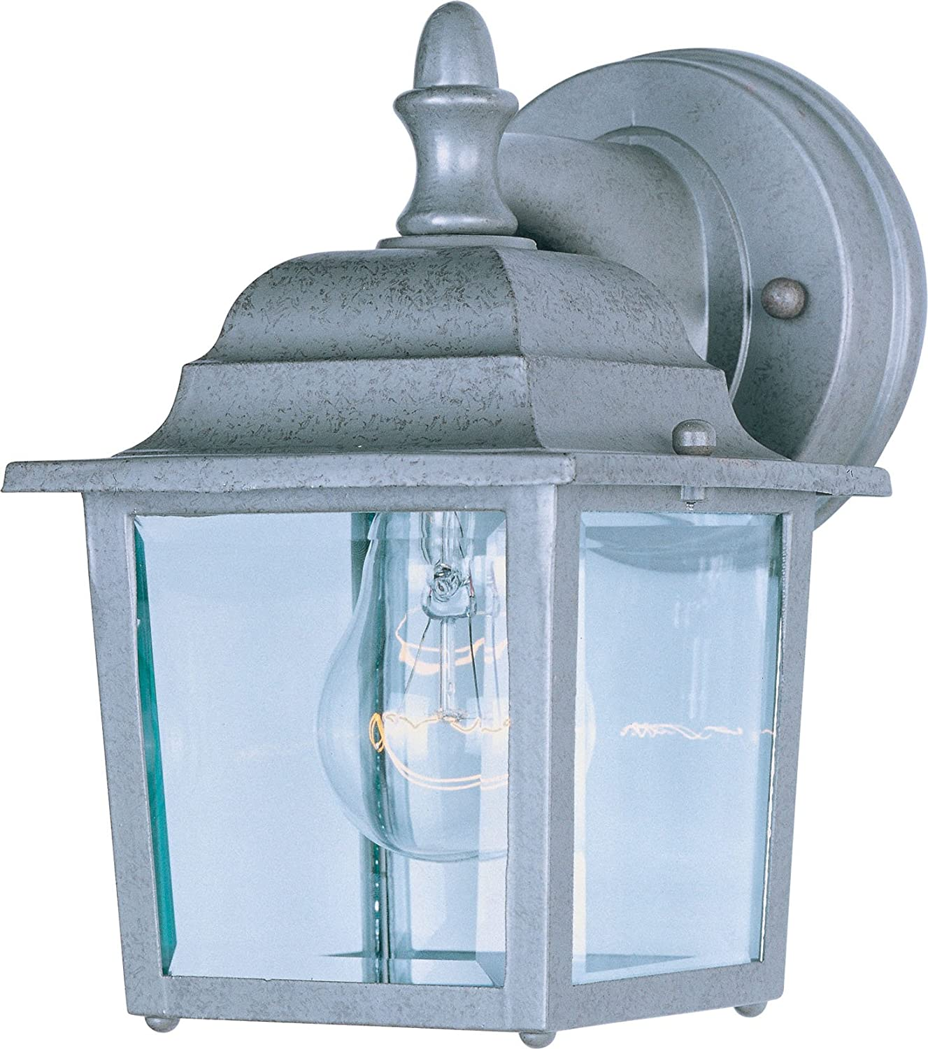 Maxim 1025WT Builder Cast 1-Light Outdoor Wall Lantern, White Finish ...
