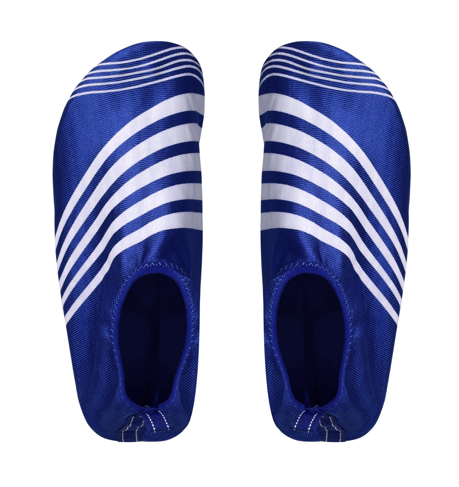 Peach Couture Mens Athletic Water Shoes Slip on Quick Drying Aqua Socks (X-Large, Blue White)