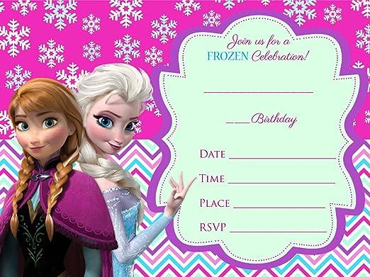 Frozen Elsa Olaf 12 Tarjetas De Invitación Para Cumpleaños ...