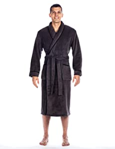 Noble Mount Men's Premium Coral Microfleece Plush Spa/Bath Robe