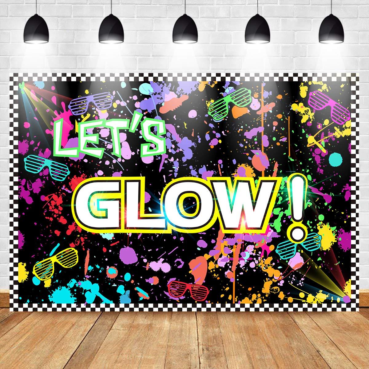 Amazon.com: Mocsicka Lets Glow - Telón de fondo de vinilo ...