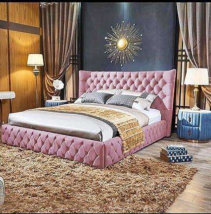 cf659291031 Stylish Plush Velvet Winged Bed