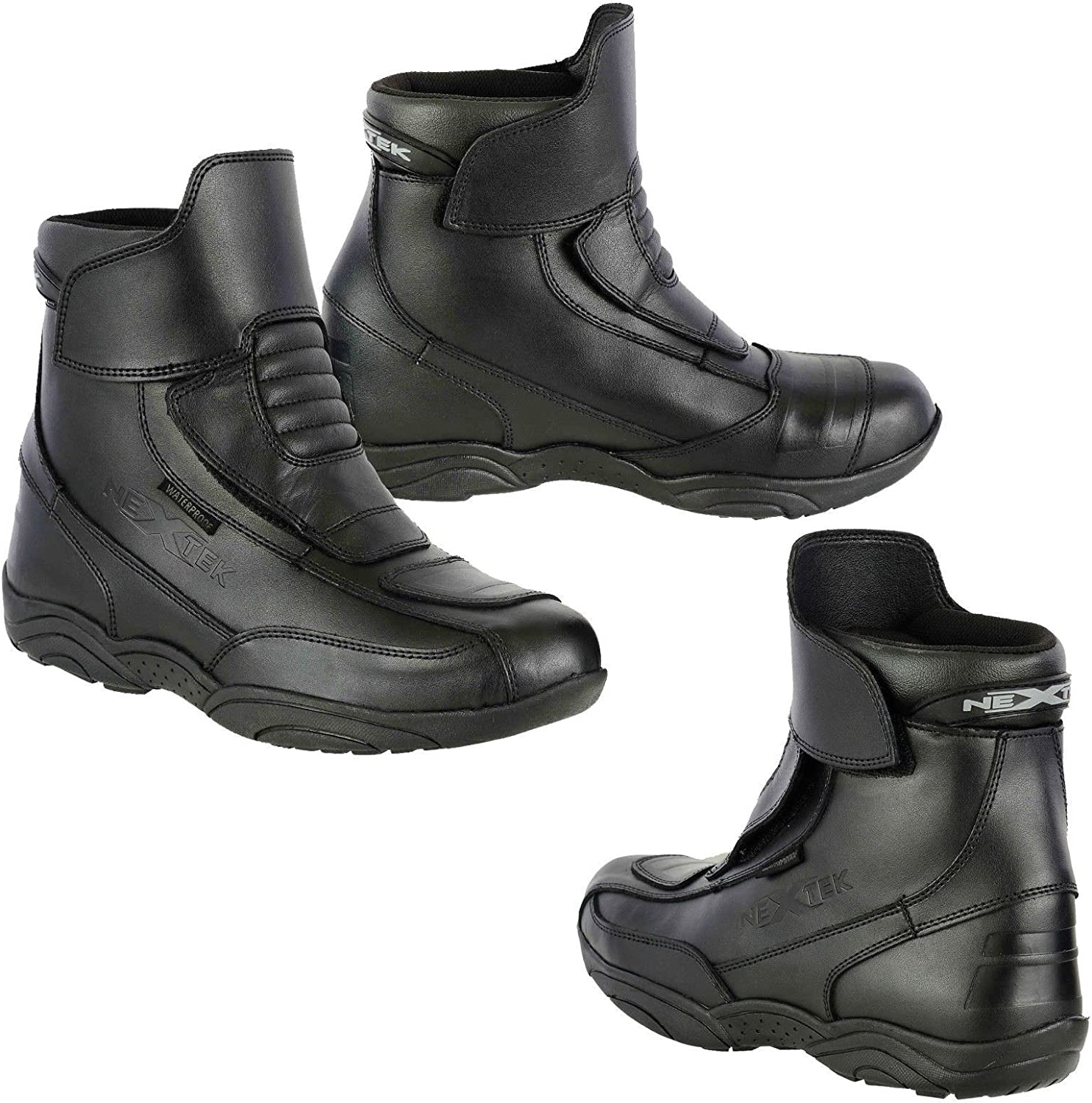 Touring Boot for Mens Boy Black UK 11 Profirst Global Motorbike Boots Motorcycle Waterproof Riding Shoes Short Ankle
