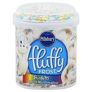 Pillsbury Fluffy Frost Funfetti Vanilla Marshmallow Flavored Fluffy Frosting, 12-Ounce
