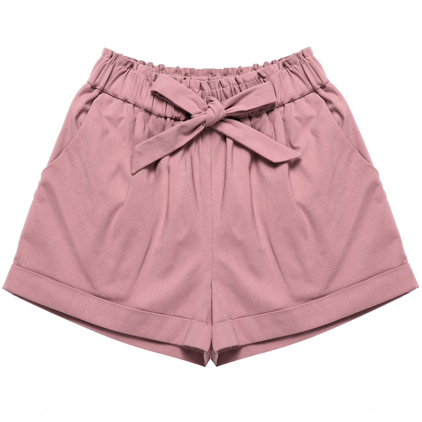 Bonny Billy Baby Girl's Short Fashion Solid Demin Pants 2-6x Pink