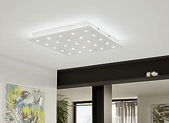 Plafoniera Eglo Led : Eglo 94566 deckenleuchte integriert silber: amazon.de: beleuchtung