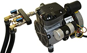 Complete Pond Aeration Kit | Rocking Piston Aerator + 200' of Weighted Tubing + 2 Diffusers (1/4 Hp, No Cabinet)