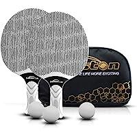 Senston Juego de Raquetas de Tenis de Mesa, Bates de Tenis de Mesa Profesionales con 3 Pelotas, Juego de Palas de Ping…