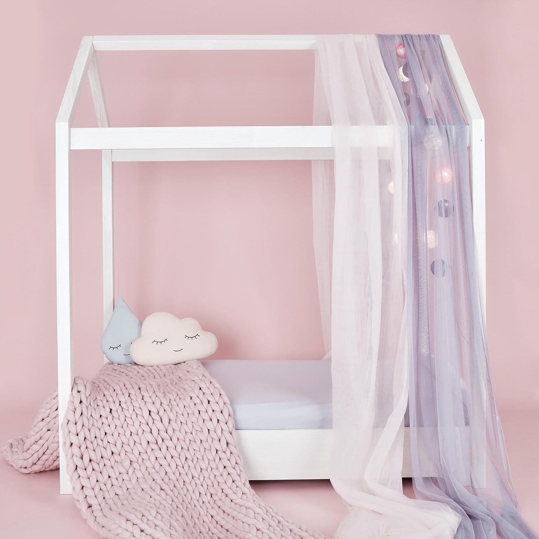 kraftkids kinderbett hausbett wei f r matratzengr e 70 cm x 140 cm g nstig. Black Bedroom Furniture Sets. Home Design Ideas