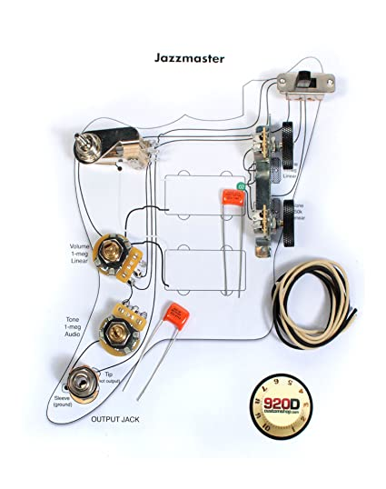 amazon com fender vintage jazzmaster wiring kit pots switch rh amazon com