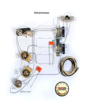 fender vintage jazzmaster wiring kit pots switch amazon co uk fender vintage jazzmaster wiring kit pots switch slider caps bracket diagram