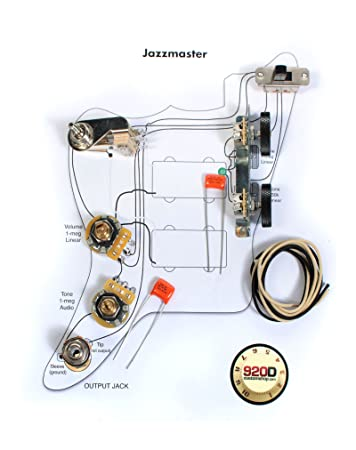 Modern jazzmaster wiring diagram auto wiring diagram today fender vintage jazzmaster wiring kit pots switch slider caps bracket diagram rh amazon com fender wiring diagrams fender jazzmaster wiring asfbconference2016 Choice Image