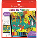 Faber-Castell Color by Number Forest Friends - Kids Color by Number Kit with Markers