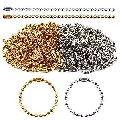 BronaGrand 100 piezas 150 mm largo Bead Conector cierre 2.4 ...