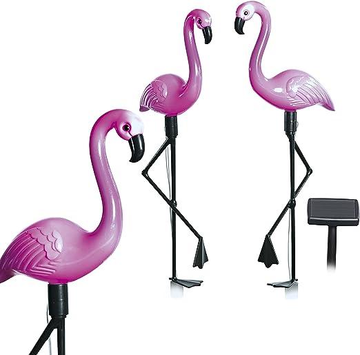 Easymaxx - 09383 Flamenco decorativo con luz rosa y panel solar | No requiere fuente de alimentación externa | Decoración para jardín | Ornamentos para jardín | Para estanques de jardín: Amazon.es: Iluminación
