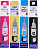 ANG Refill Ink for Epson L130 Multi Function Printer  70 ML Each Bottle ; Cyan; Magenta; Yellow and Black