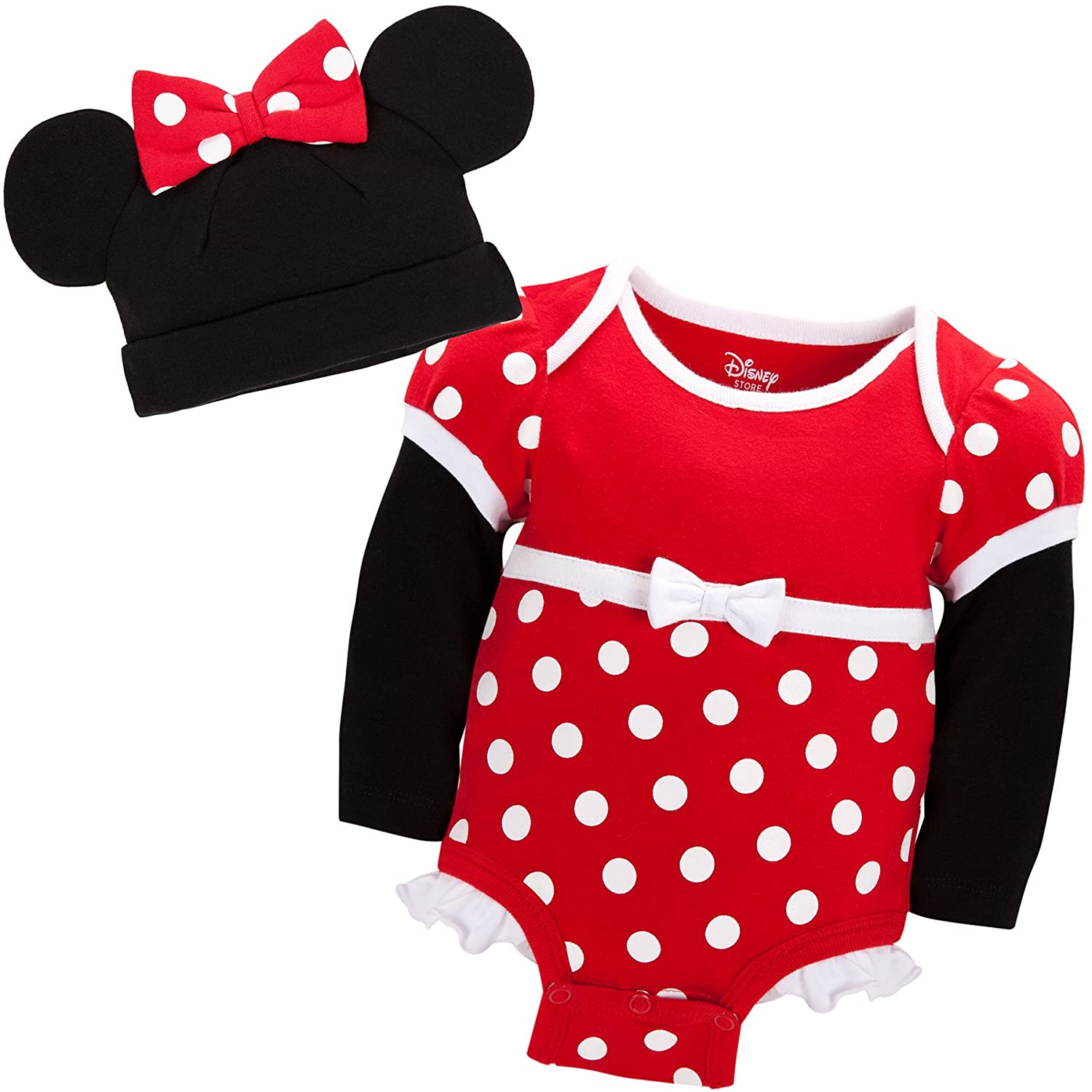 Amazon Disney Store Red Minnie Mouse esie Costume Bodysuit
