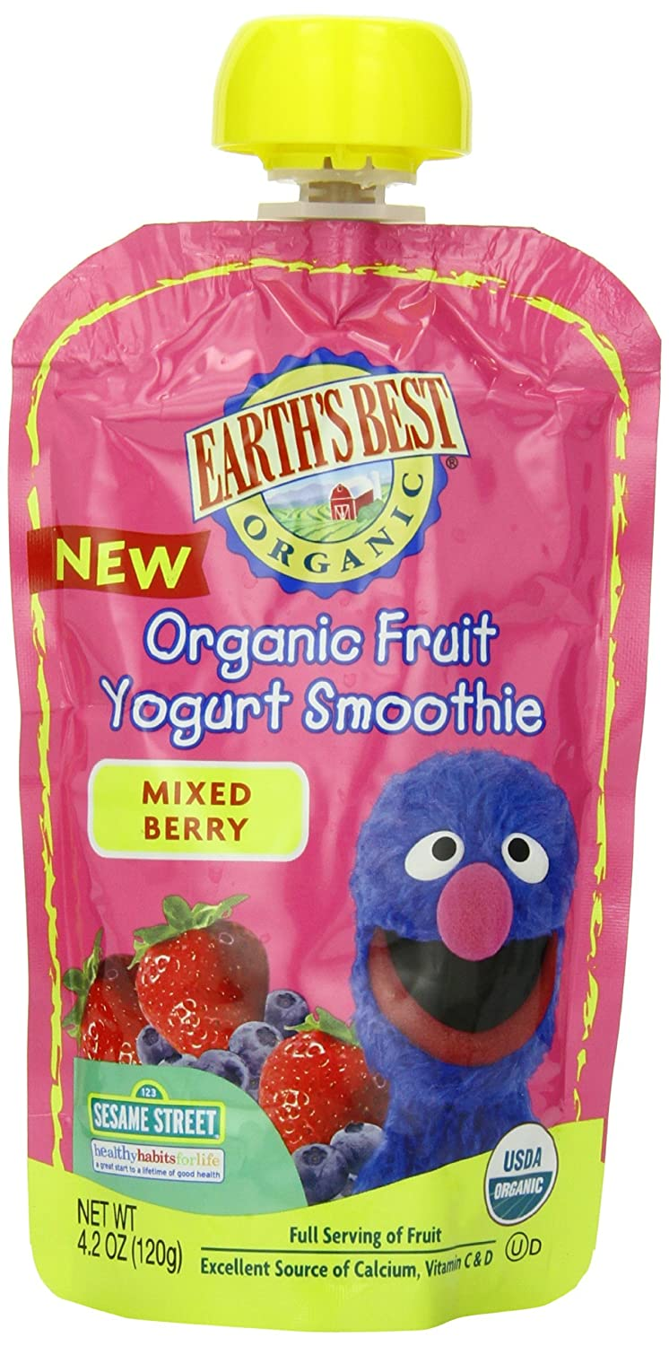 Amazon.com : Orgánica Fruta Yogurt Batido de frutas, Berry ...