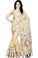Rani Saahiba Women's Art Bhagalpuri Silk Printed Saree