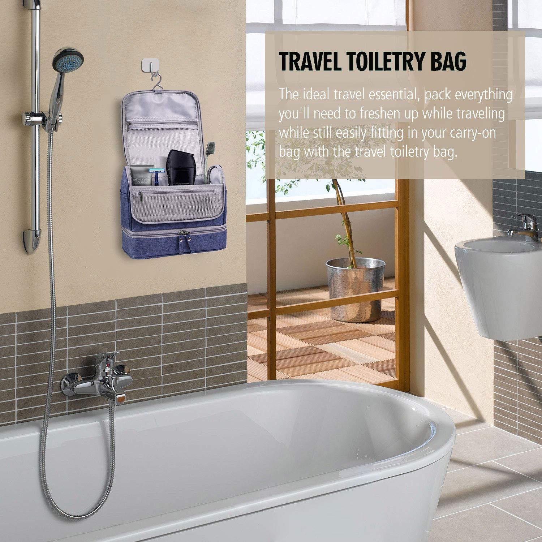0faf3c05ba33 Deep Blue: Beilian Travel Toiletry Bag Double Layer Hanging ...