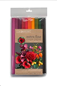 Lia Griffith PLG11027 Extra Fine Crepe Paper, 53.3 Total Square Feet, Enchanted Garden,10 Count