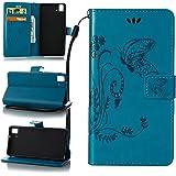 ZeWoo Funda de PU Piel - LD109 / Azul - para BQ Aquaris E5 / E5 HD / E5 FHD (5 pulgadas) carcasas y fundas