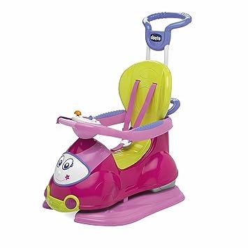 Chicco 00060703100000 Quattro - Correpasillos Convertible en balancín, Color Rosa