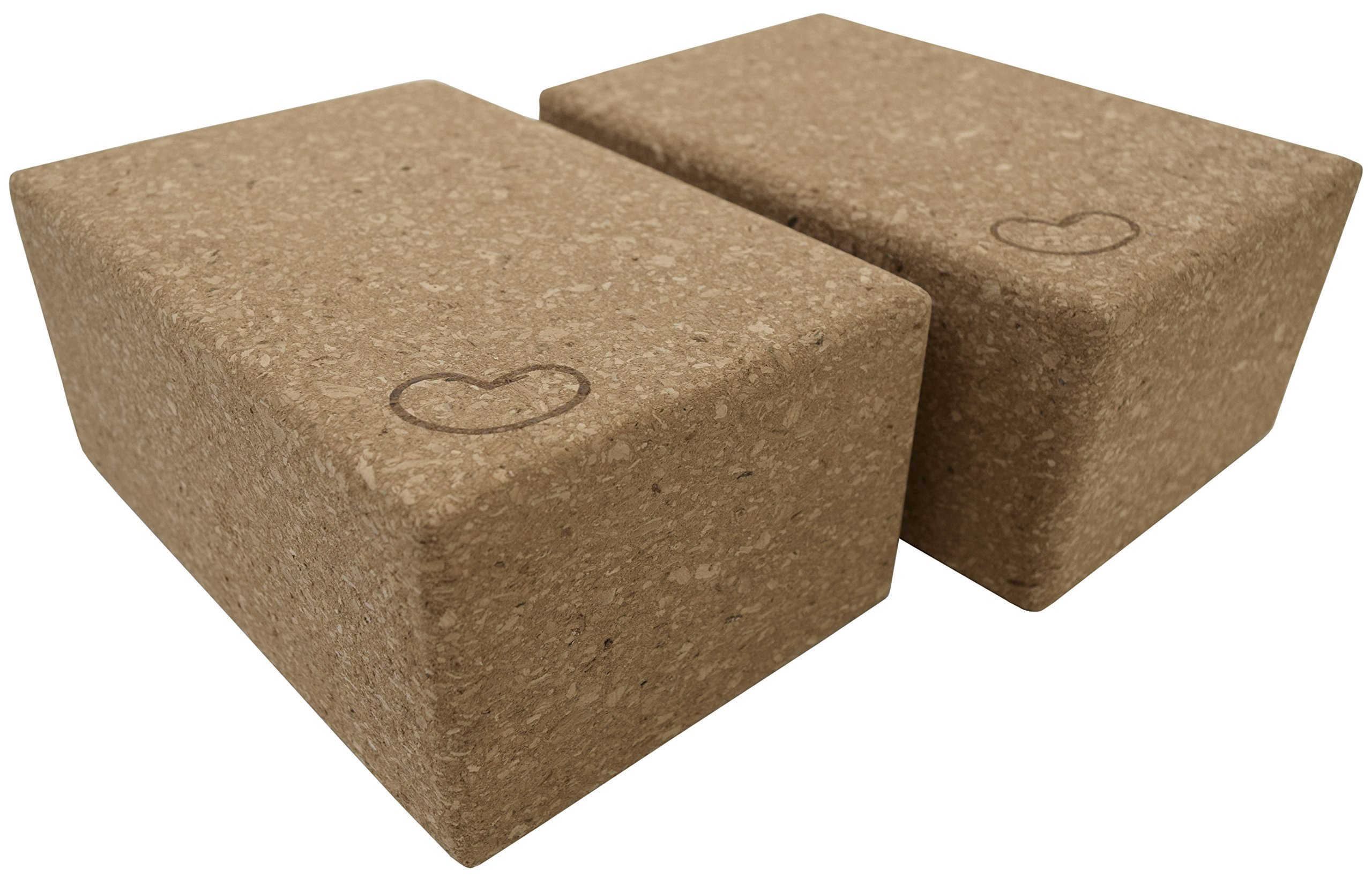 Bean Products Eco Yoga Cork Blocks - Pair - 4 in x 6 in x 9 in - Large Size by Bean Products