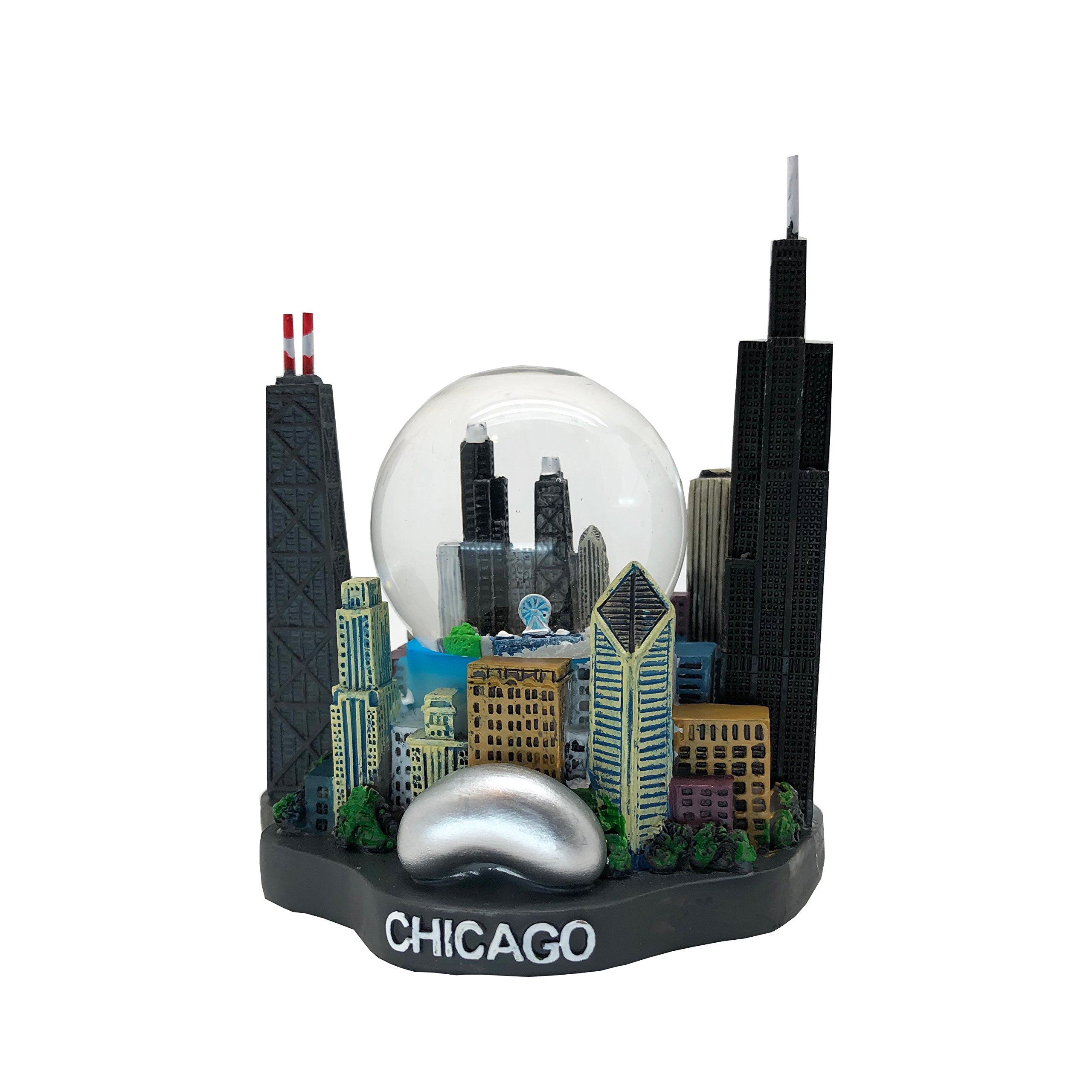 Great Chicago Gifts Chicago Color Snow Globe Statue - 45mm by Great Chicago Gifts