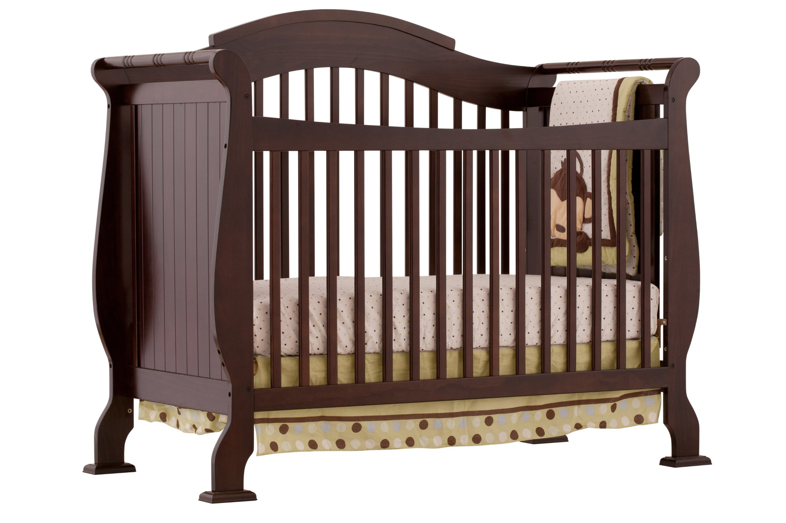 Stork Craft Valentia Convertible Crib, Espresso