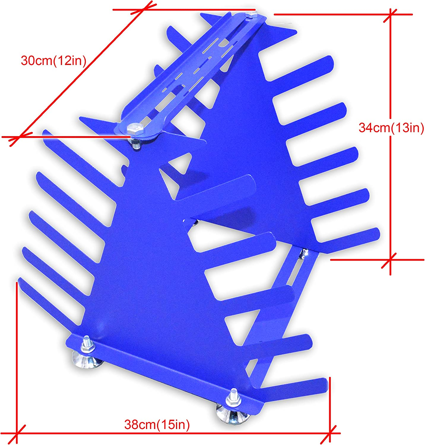INTBUYING 6 Layers Screen Printing Squeegee Rack Silk Screen Squeegee Scraper Spatula Steel Holder Organizer