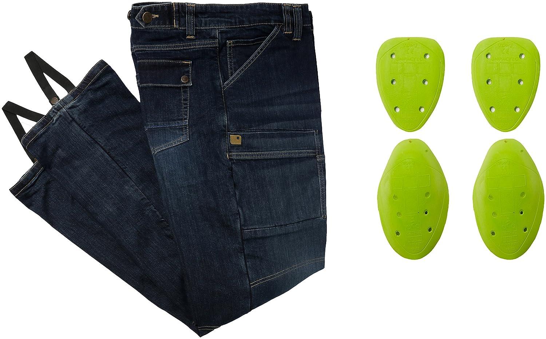Overlap Sturgis CE Dirt Azul Jeans de moto para hombre 40