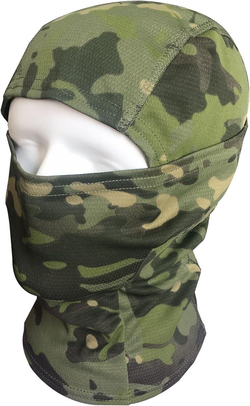 Pasamonta/ñas M/áscara QMFIVE Camuflage Cara Completa Militar T/áctico Capucha De Ninja Caza Ciclismo M/áscara Camuflaje