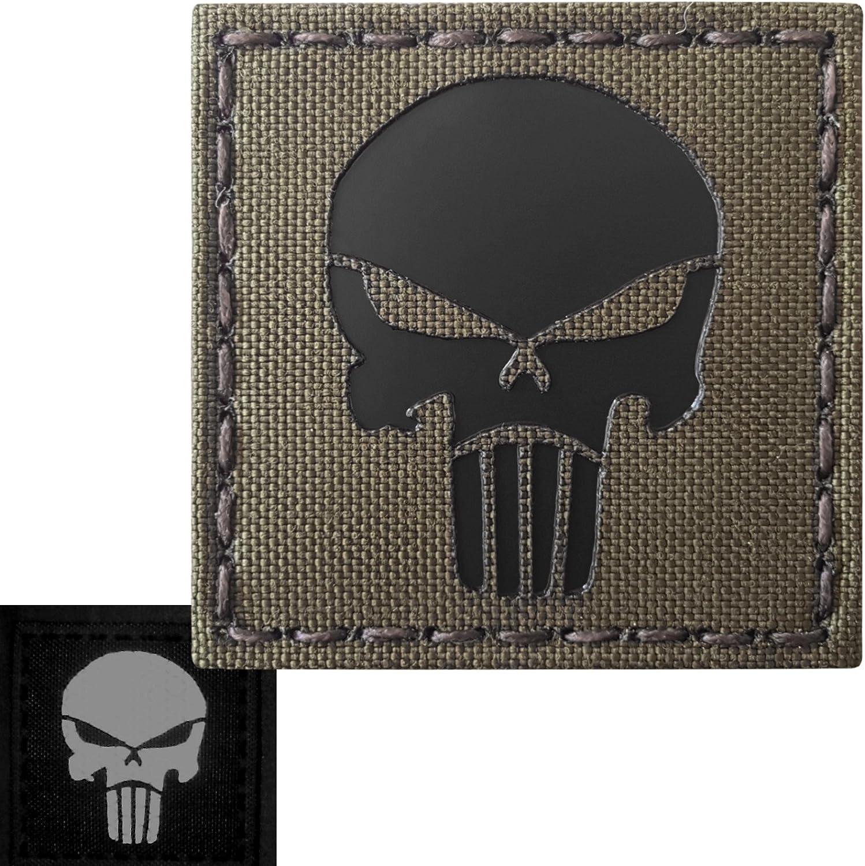 Punisher Skull 2x2 Ranger Green Infrared Ir Laser Cut Reflective Tactical Morale Fastener Patch Sport Freizeit