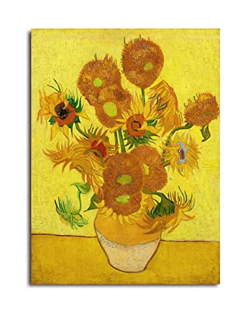 Tamatina Canvas Paintings Sunflowers Yellow Background Vincent
