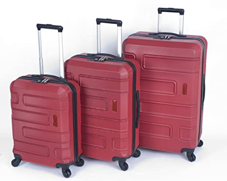 5b8158889 Smart - Set 3 Maletas Valisa (Rojo): Amazon.es: Equipaje