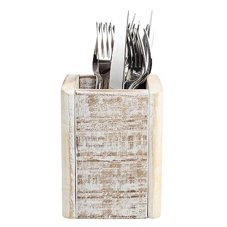 T&G Woodware Nordic - Cubertería con 6 compartimentos para cubiertos (organizador de mesa, cubertería