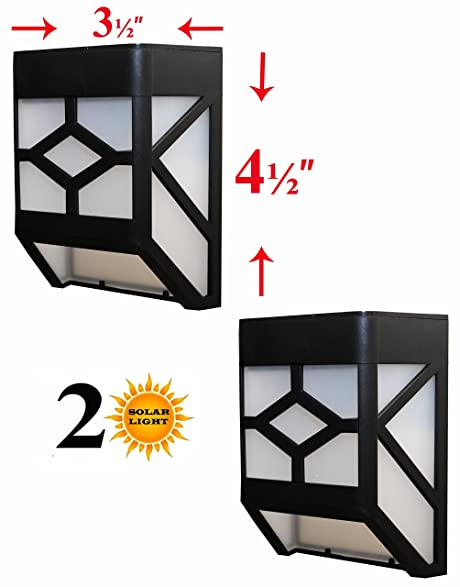 Amazon sleeklighting solar powered wall mount light for sleeklighting solar powered wall mount light for fence wall garden step mozeypictures Gallery