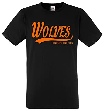 WOLVERHAMPTON WANDERERS WOLVES Football Gift - one life one club Idea T-Shirt  FC Present 8574980ed