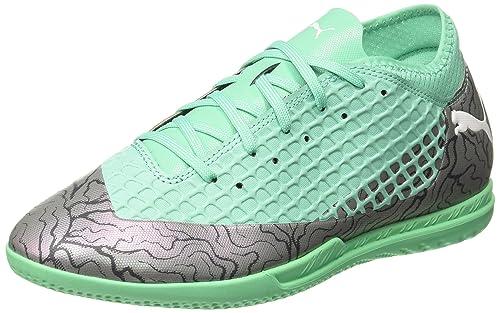 Puma Boy s Color Shift-Biscay Green White Black Football Shoes-13 UK India 75e736f465409