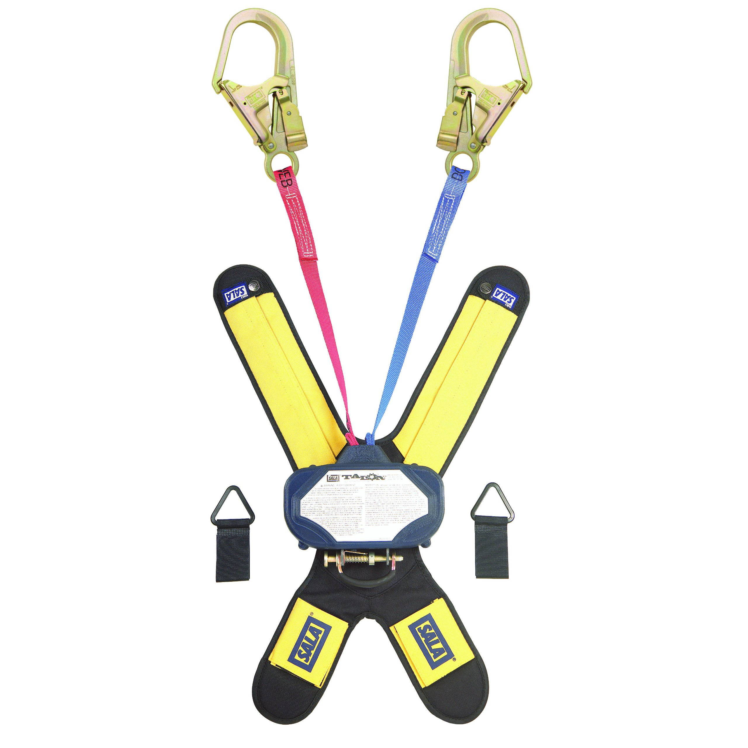 3M DBI-SALA Talon 3102006 SRL, 6-Foot Twin-Leg, 1 Leg Red, 1 Leg Blue Quick Connector for Harness Mount, Steel Rebar Hooks, Navy/Red/Blue by 3M Fall Protection Business (Image #1)